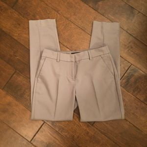 Express Columnist Ankle Mid Rise Gray Pants 2R